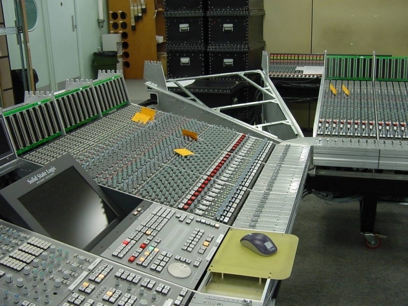 The building of the SSL 9000K which was installed in the Big Room in 2004