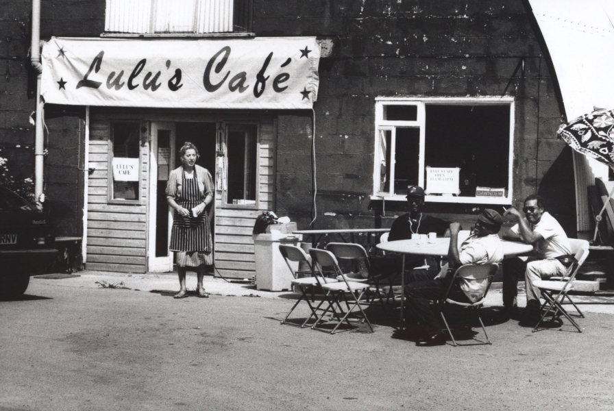 Lulu's Cafe was set up in one of the Nissen huts for the Real World recording week in 1991. Credit, Andy Caitlin