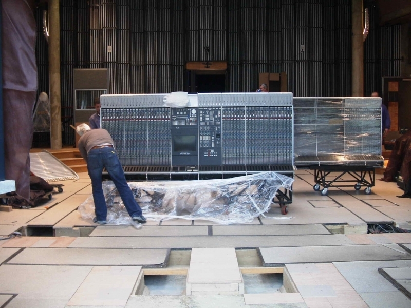 Installing the SSL 9000K in The Big Room